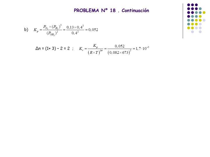 PROBLEMA Nº 18 . Continuación