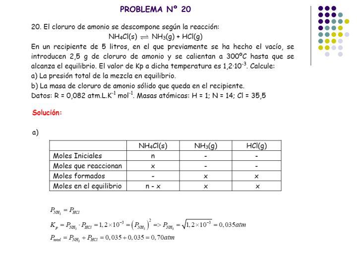 PROBLEMA Nº 20