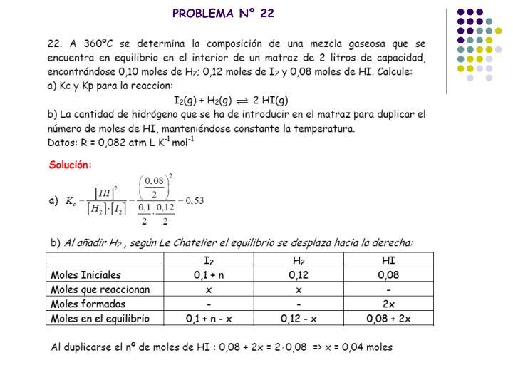 PROBLEMA Nº 22