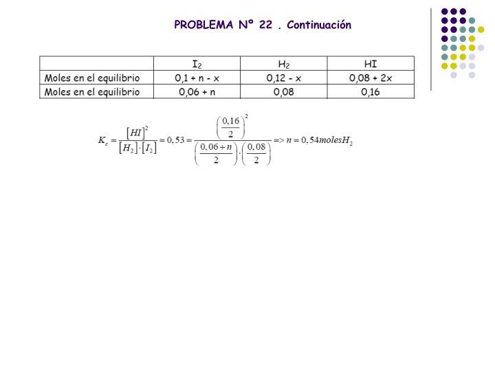PROBLEMA Nº 22 . Continuación