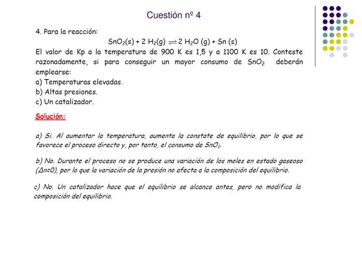 Cuestión nº 4