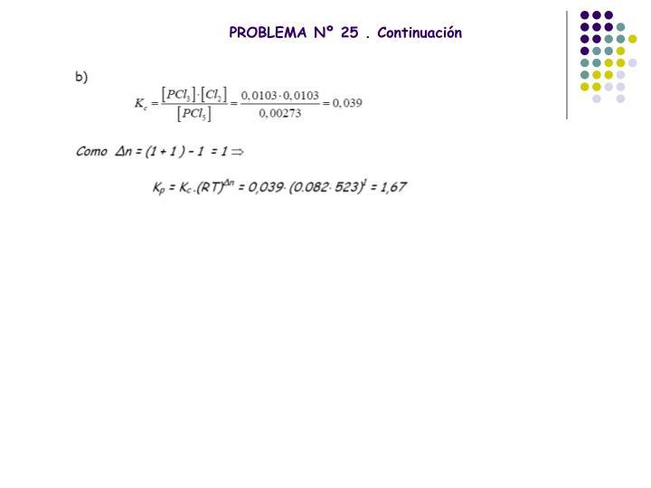 PROBLEMA Nº 25 . Continuación