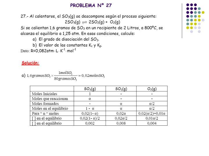 PROBLEMA Nº 27