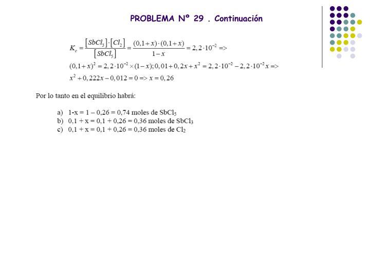 PROBLEMA Nº 29 . Continuación
