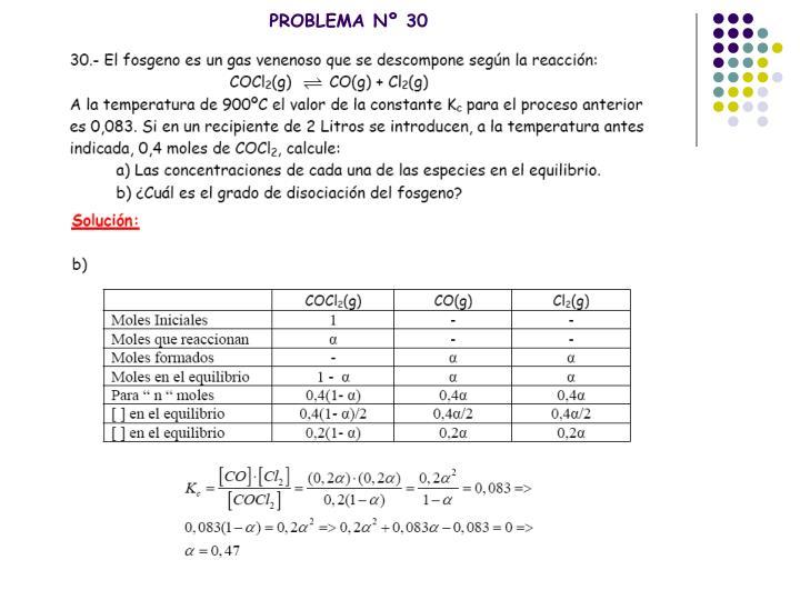 PROBLEMA Nº 30