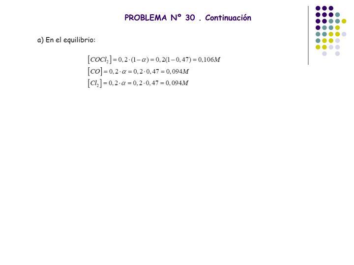 PROBLEMA Nº 30 . Continuación