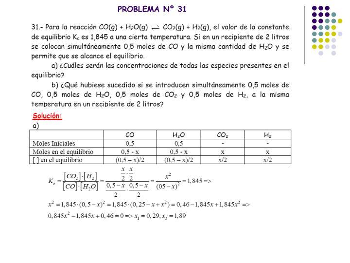 PROBLEMA Nº 31