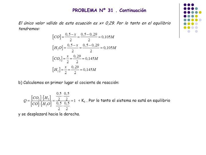 PROBLEMA Nº 31 . Continuación