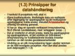 1 3 prinsipper for datah ndtering