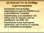 5 nettverk for de frivillige organisasjonene