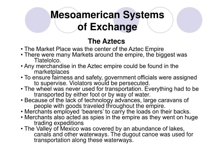 Mesoamerican systems of exchange