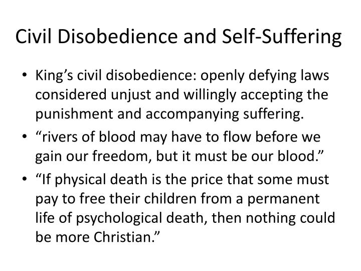 Civil Disobedience and Self-Suffering