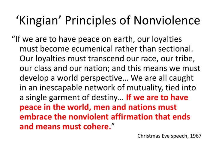 'Kingian' Principles of Nonviolence