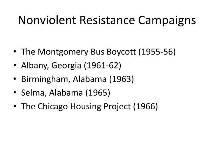 Nonviolent Resistance Campaigns
