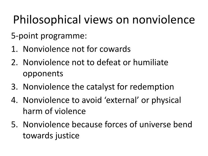 Philosophical views on nonviolence