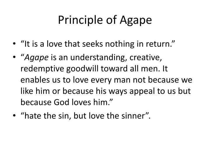 Principle of Agape