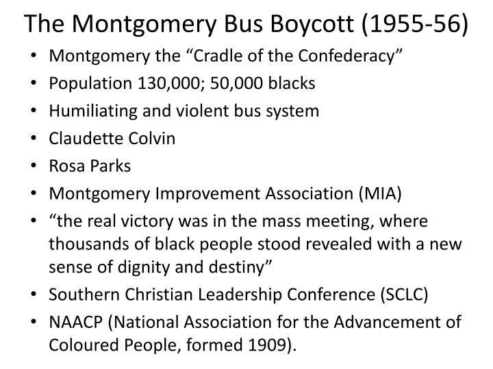 The Montgomery Bus Boycott (1955-56)