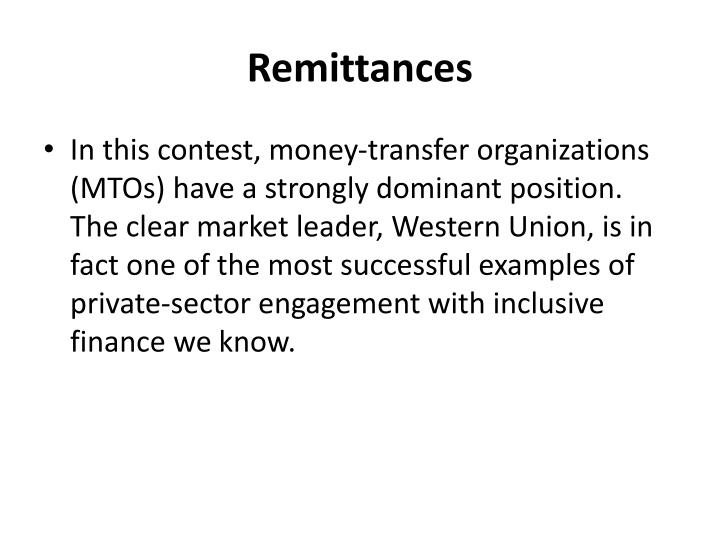 Remittances
