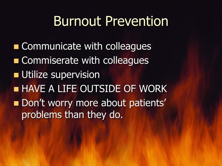 Burnout Prevention
