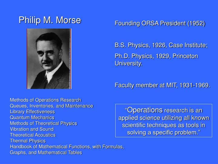 Philip M. Morse