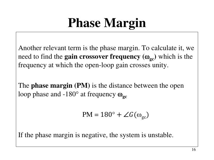 Phase Margin