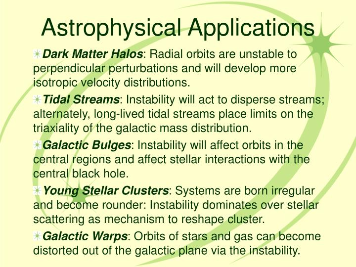 Astrophysical Applications