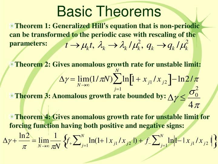 Basic Theorems
