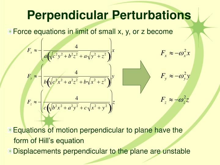 Perpendicular Perturbations
