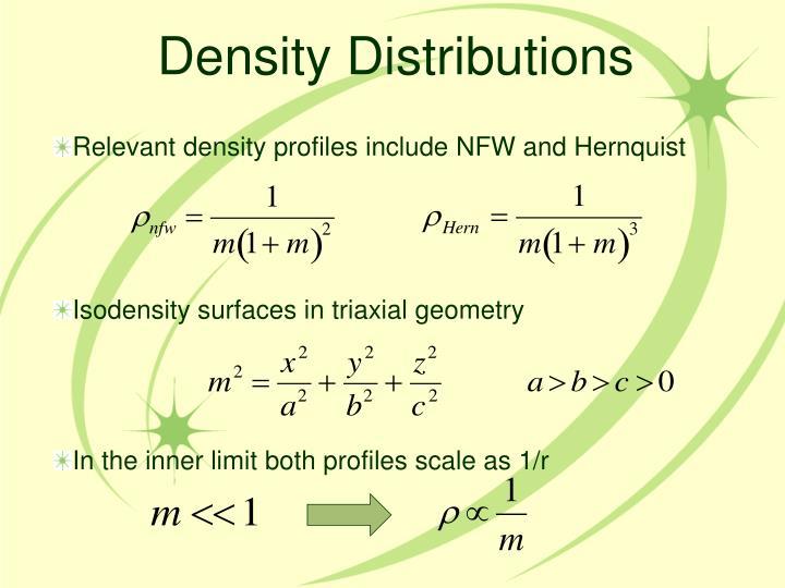 Density Distributions