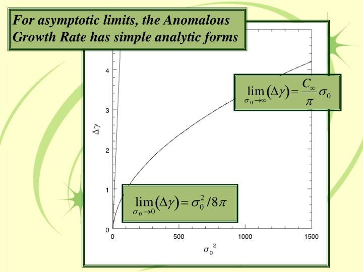For asymptotic limits, the Anomalous