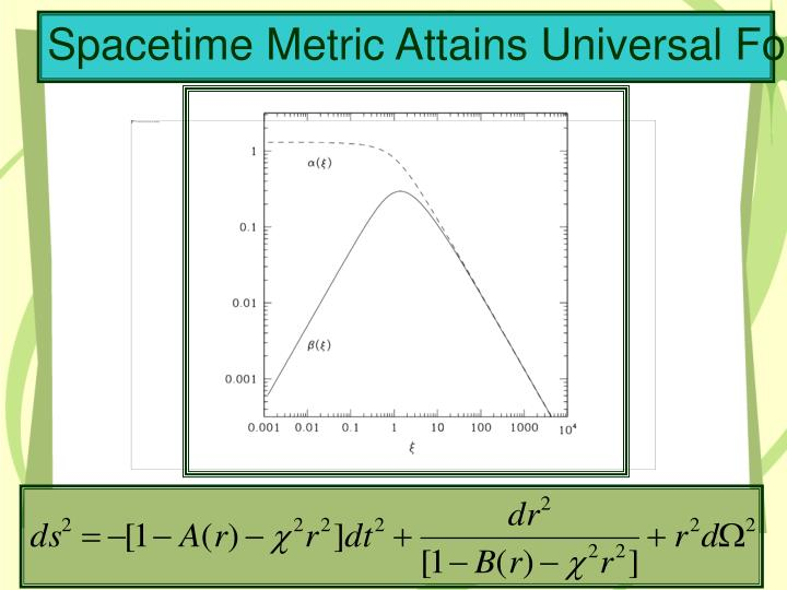 Spacetime Metric Attains Universal Form