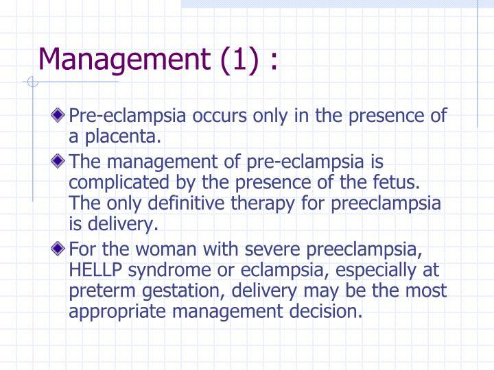 Management (1) :