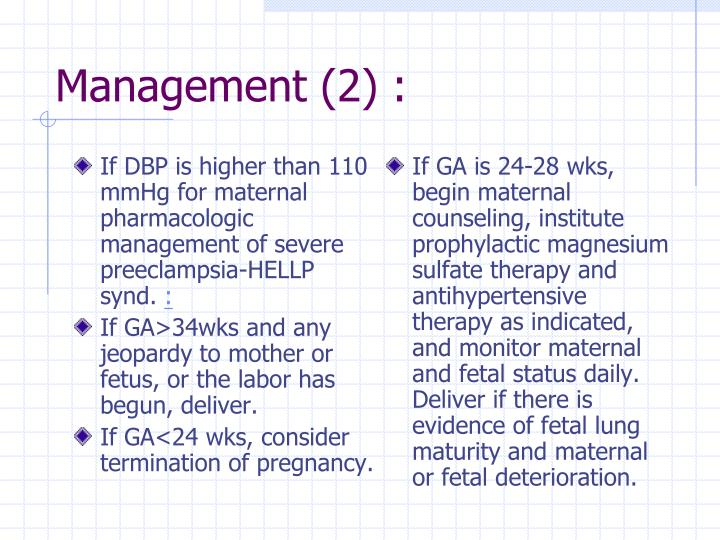 If DBP is higher than 110 mmHg for maternal pharmacologic management of severe preeclampsia-HELLP synd.