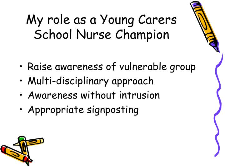 My role as a Young Carers School Nurse Champion