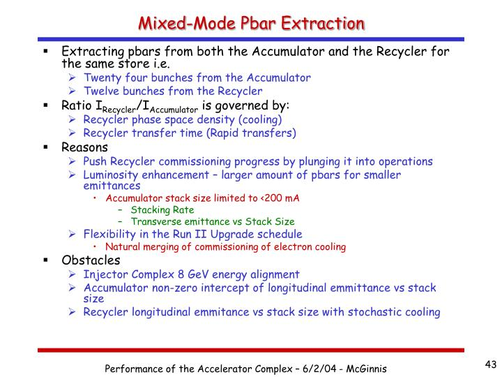 Mixed-Mode Pbar Extraction