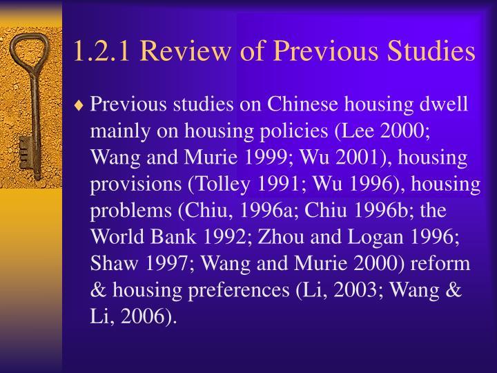 1.2.1 Review of Previous Studies