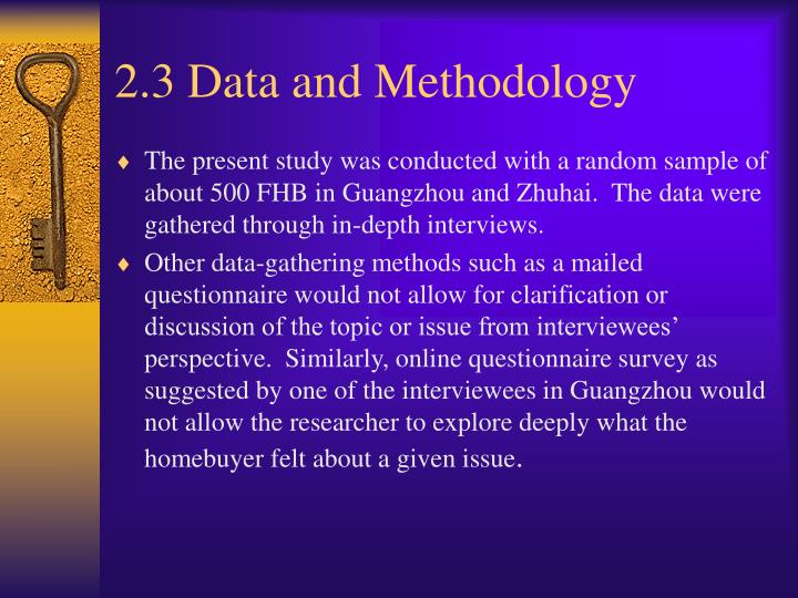 2.3 Data and Methodology