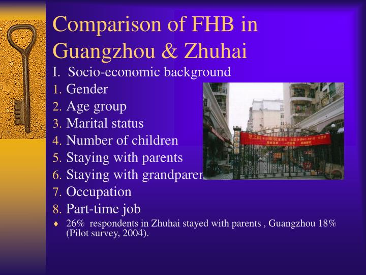 Comparison of FHB in Guangzhou & Zhuhai
