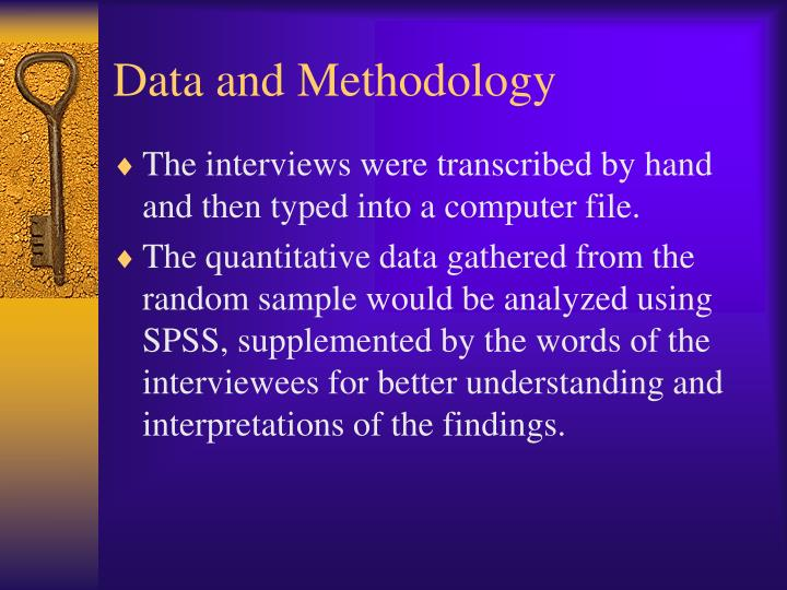 Data and Methodology