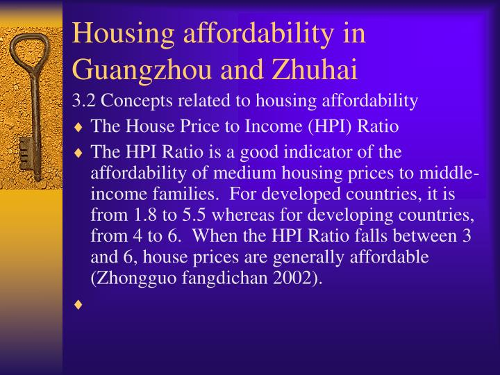 Housing affordability in Guangzhou and Zhuhai