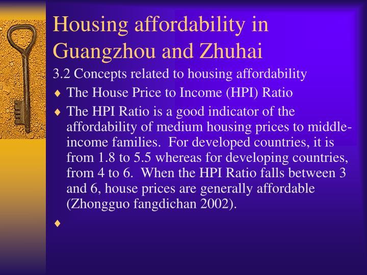 Housing affordability in Guangzhou and Zhuhai