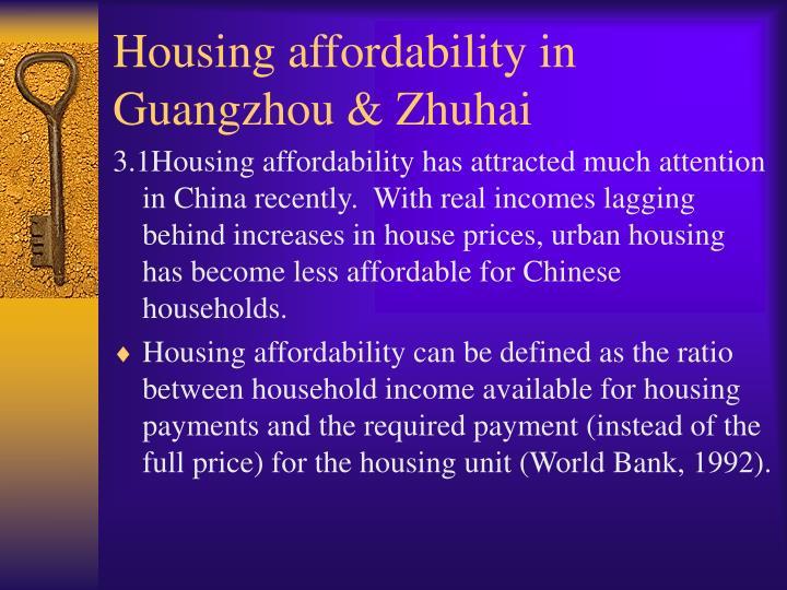 Housing affordability in Guangzhou & Zhuhai