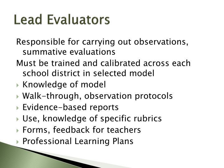 Lead Evaluators