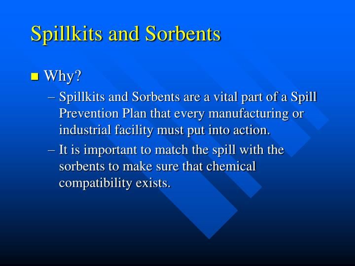 Spillkits and Sorbents