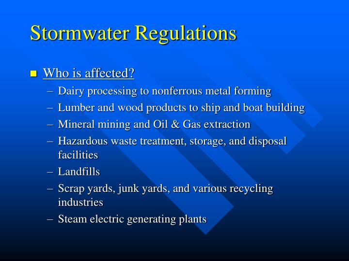 Stormwater Regulations