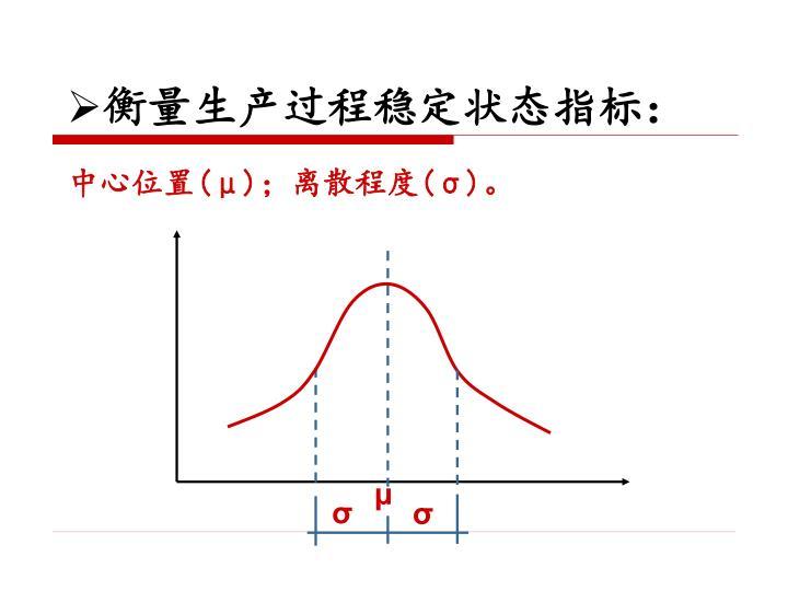 衡量生产过程稳定状态指标: