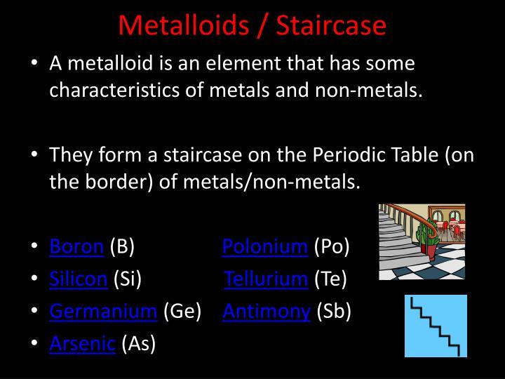 Metalloids / Staircase