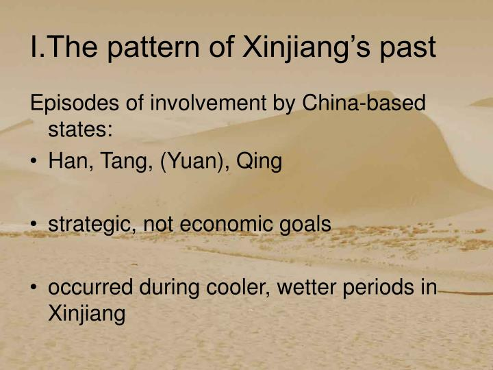 I.The pattern of Xinjiang's past
