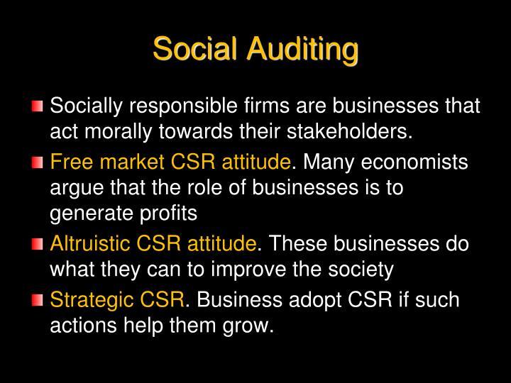Social Auditing