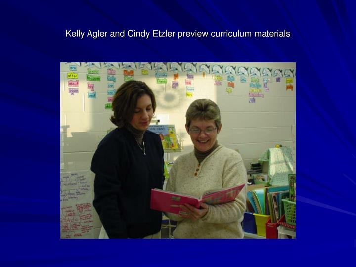Kelly Agler and Cindy Etzler preview curriculum materials